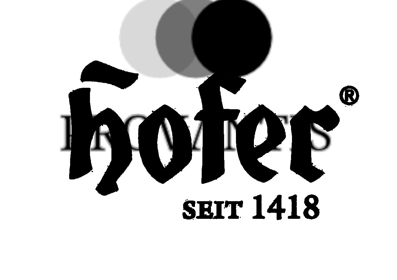 Hofer Logo Nero
